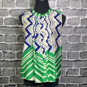 Collective Concepts Sz M Silky Summer Blouse